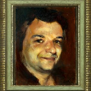 First Self-Portrait, 8x6 inches, oil on panel, 2008