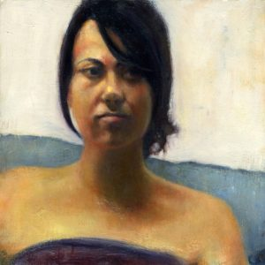 Julia, 10x10 inches, oil on panel, 2007