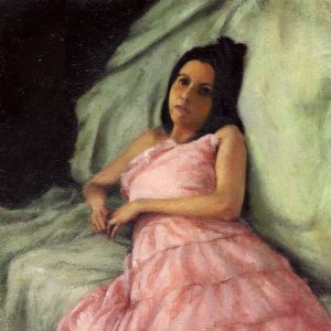 Pink Dress, 10x10 inches, oil on canvas, 2008