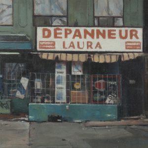 Dépanneur: Laura, 7½x9¼ inches, oil on panel, 2014