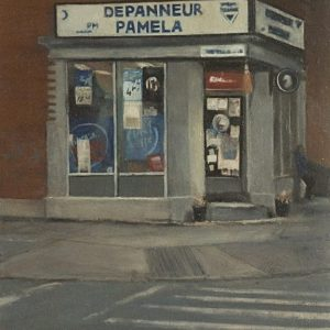Dépanneur: Pamela, 11x8½ inches, oil on panel, 2015