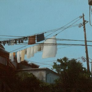 Lanes: Laundry II, 8x10 inches, oil on canvas, 2015