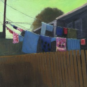 Lanes: Laundry III, 8x8 inches, oil on panel, 2016