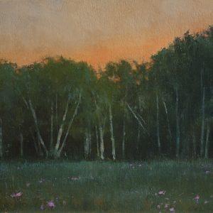Orange Sky, 12x16 inches, oil on canvas, 2014