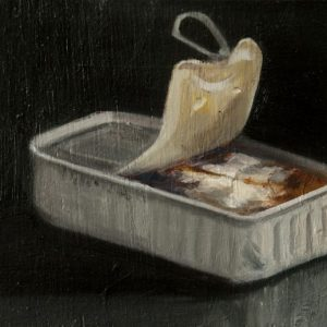 Sardines: Gabriel, 4¼x6¼ inches, oil on panel, 2014