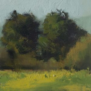 Study Near Stanstead, 8½x5½ inches, oil on panel, 2013