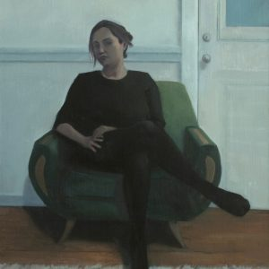Green Chair, 30x22 inches, oil on panel, 2014