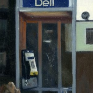 Landline: King,  15x½ inches, oil on panel, 2017