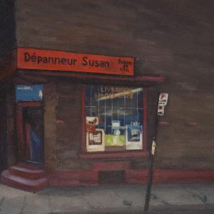 Dépanneur: Susan, 11x15 inches, oil on panel, 2017