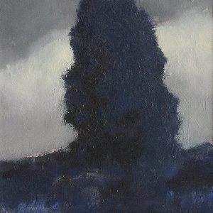 Grey Sky, 10x8 inches, oil on canvas, 2018