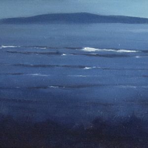 The Gulf, 9½x19½ inches, oil on panel, 2018