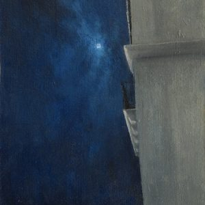 The Balcony, 16x12 inches, oil on canvas, 2021